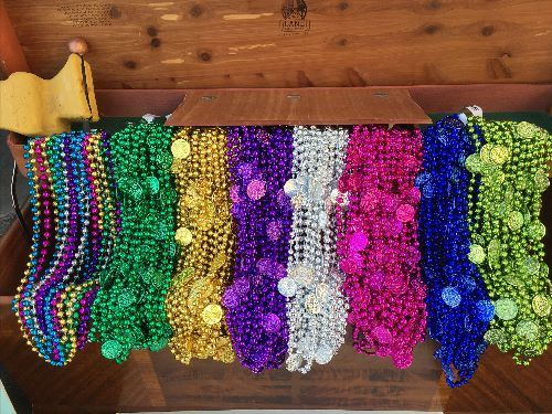 beads hanging from float